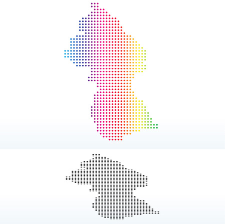 operative: Vector Image - Map of Co-operative Republic of Guyana with Dot Pattern