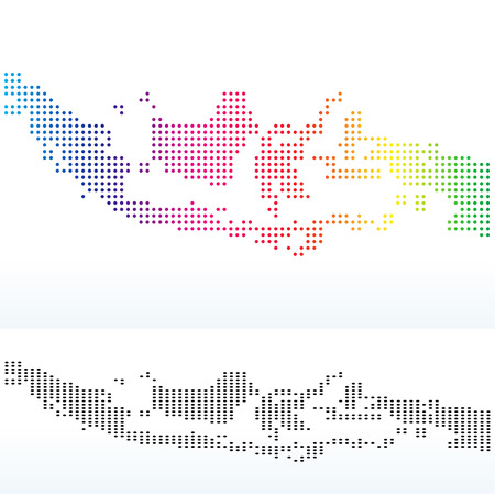Vector Image - Map of Republic of Indonesia with Dot Pattern