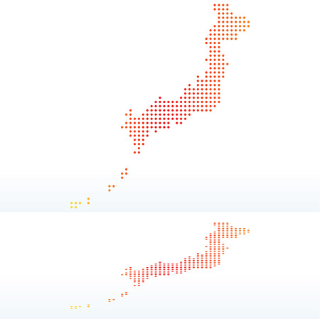 nihon: Vector Image - Map of State of Japan with Dot Pattern