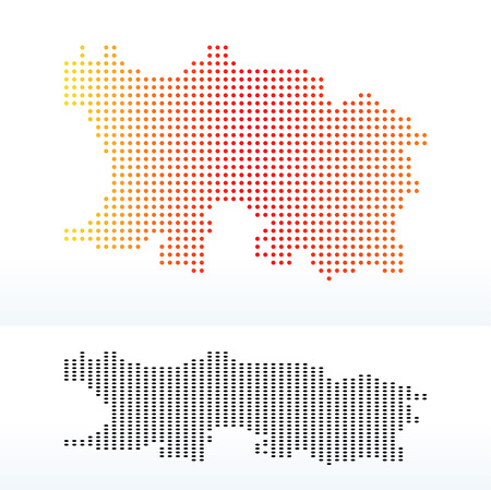 bailiwick: Vector Image - Map of Bailiwick of Jersey, British Crown dependency with Dot Pattern