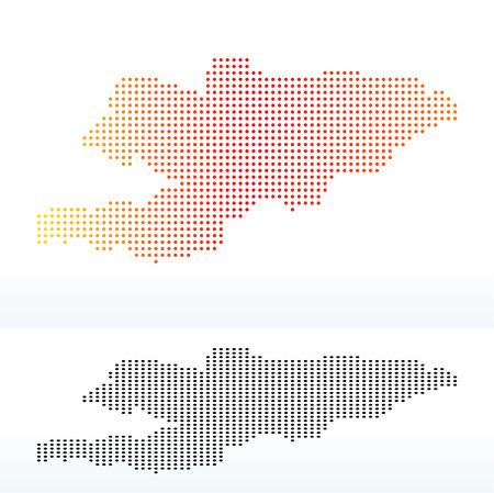kyrgyz republic: Vector Image -  Map of Kyrgyz Republic with Dot Pattern