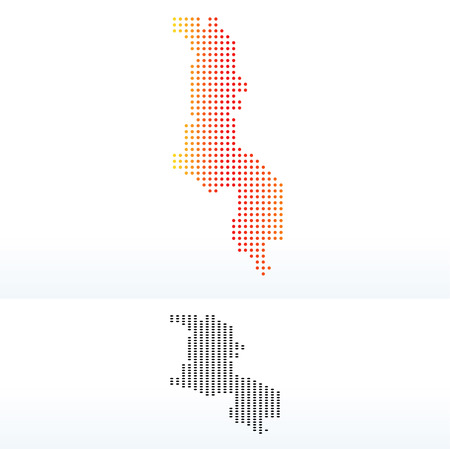 malawian: Vector Image -  Map of Republic of Malawi with Dot Pattern Illustration