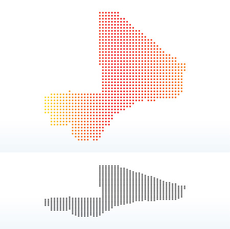 malibu: Vector Image -  Map of Republic of Mali with Dot Pattern Illustration