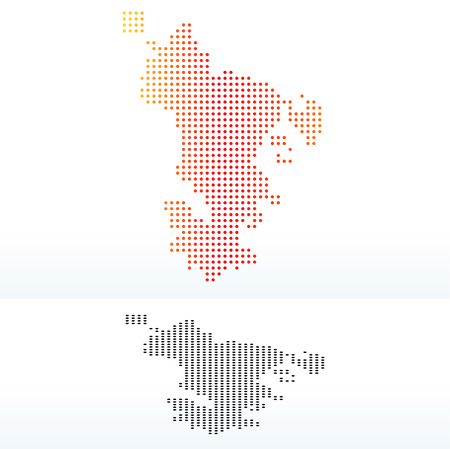 collectivity: Vector Image -  Map of Departmental Collectivity of Mayotte with Dot Pattern