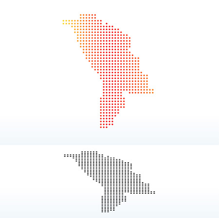 moldovan: Vector Image -  Map of Republic of Moldova with Dot Pattern