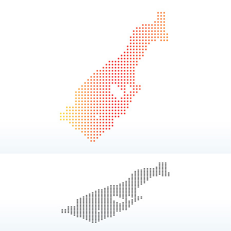 monegasque: Vector Image -  Map of Principality of Monaco with Dot Pattern