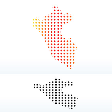 republic of peru: Vector Image - Map of Republic of Peru with Dot Pattern