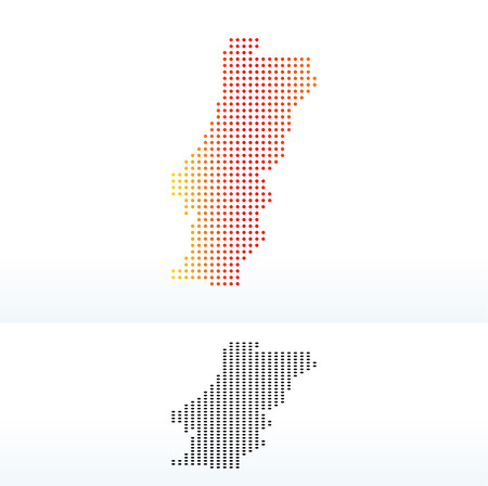instance: Vector Image - Map of Portuguese Republic with Dot Pattern