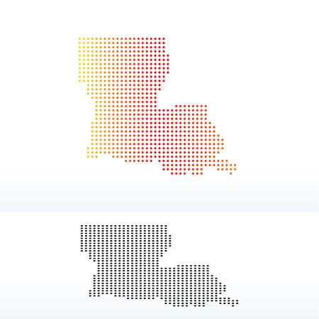 louisiana state: Vector Image - Map of USA Louisiana State with Dot Pattern