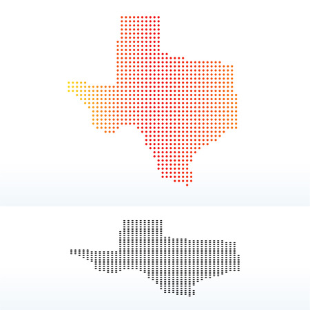 land mark: Vector Image - Map of USA Texas State with Dot Pattern Illustration
