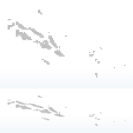 interpret: Vector Image - Map of Solomon Islands with Dot Pattern Illustration