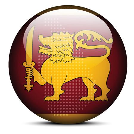 socialist: Vector Image -  Map with Dot Pattern on flag button of Democratic Socialist Republic of Sri Lanka Illustration