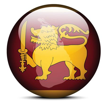 Vector Image -  Map on flag button of Democratic Socialist Republic of Sri Lanka Vector