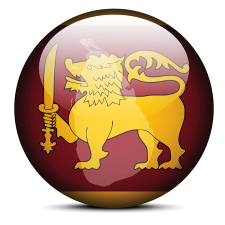 sri: Vector Image -  Map on flag button of Democratic Socialist Republic of Sri Lanka
