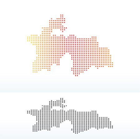 land mark: Vector Image -  Map of Republic of Tajikistan with Dot Pattern