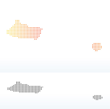 instance: Vector Image -  Map of United Arab Emirates, Ajman Emirate with Dot Pattern Illustration