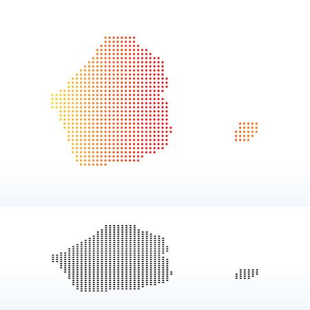 Vector Image -  Map of United Arab Emirates, Dubai Emirate with Dot Pattern Illustration