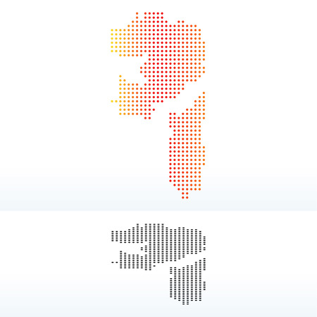 united arab emirate: Vector Image -  Map of United Arab Emirates, Fujairah Emirate with Dot Pattern Illustration