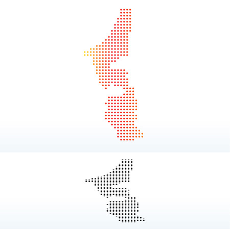 united arab emirate: Vector Image -  Map of United Arab Emirates, Ras al-Khaimah Emirate with Dot Pattern Illustration