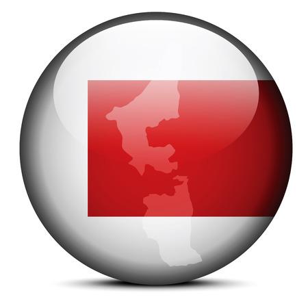united arab emirate: Vector Image -  Map on flag button of United Arab Emirates, Ras al-Khaimah Emirate Illustration