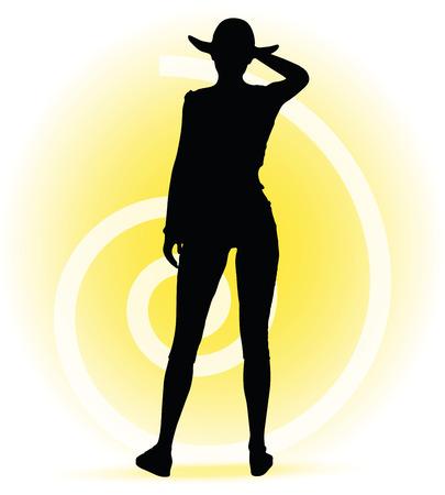 turista: Imagem vetorial - silhueta da mulher do turista com a bolsa e  Ilustra��o