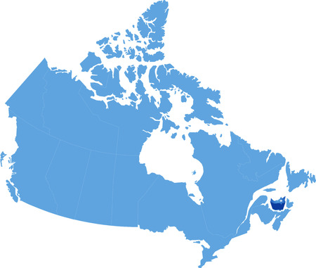 regina: Map of Canada where Prince Edward Island province is pulled out