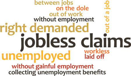 metadata: illustration in word clouds of the word Jobless Claims isolated on white background
