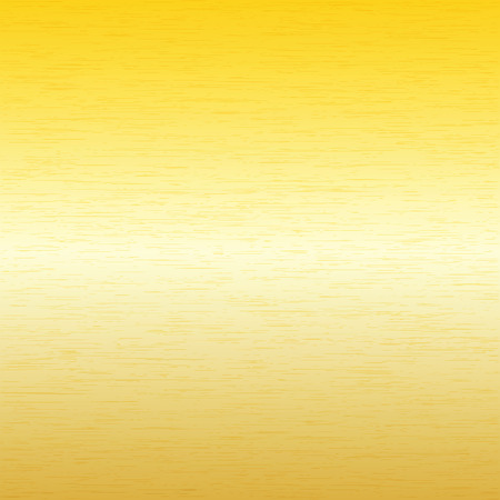 brushed gold: Vector image - Metal background, texture of brushed gold plate Illustration