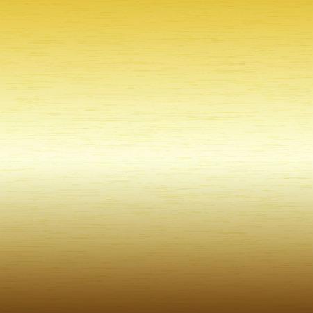 brushed steel: Vector image - Metal background, texture of brushed gold plate Illustration