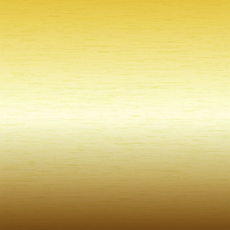 Vector image - Metal background, texture of brushed gold plate Illustration
