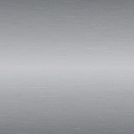 brushed steel: Vector image - Metal background, texture of brushed steel plate