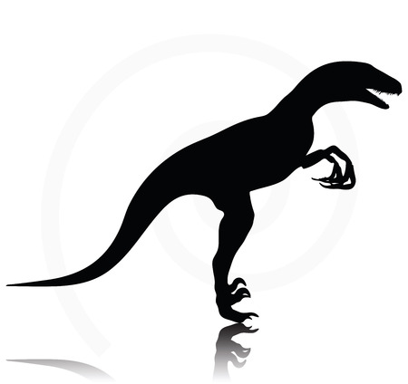 Vector Image - dinosaurs raptor isolated on white background Illustration