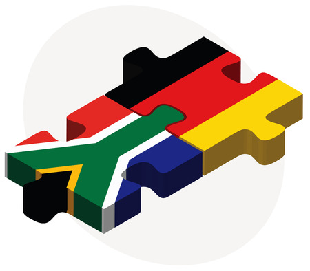 cape town: Vector Image - South Africa and Germany Flags in puzzle isolated on white background