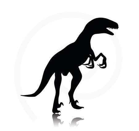 raptor: Vector Image - dinosaurs raptor isolated on white background Illustration