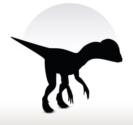 mesozoic: Vector Image - dinosaurs dilophosaurus isolated on white background