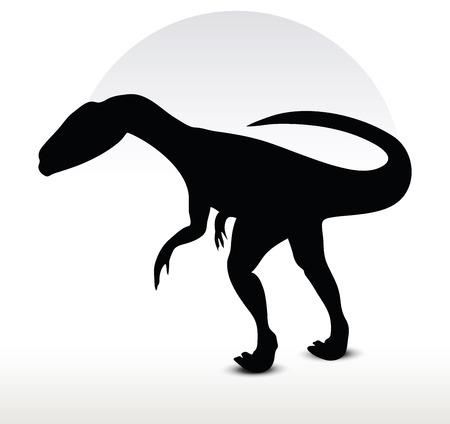 dinosaurus: Vector Image - dinosaurs dilophosaurus isolated on white background