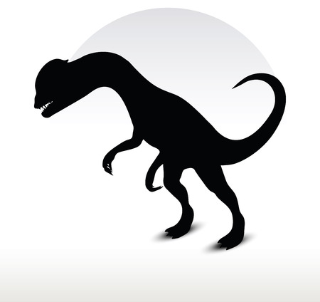 Vector Image - dinosaurs dilophosaurus isolated on white background