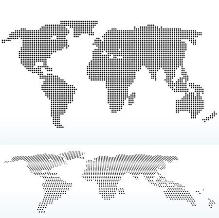 mapa mundi: ilustraci�n de mapa de mundo con con patr�n de punto