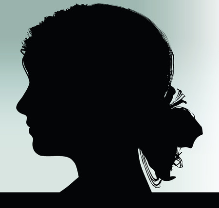 looking ahead: woman silhouette looking ahead isolated Illustration