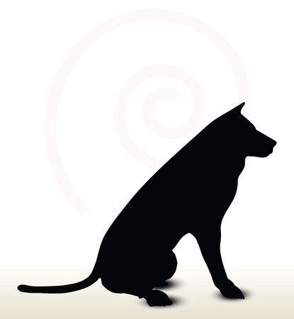 sketch out: Vector Image - animal wolf silhouette isolated on white background Illustration