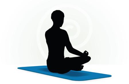 exertion: Vector Image - Yoga pose isolated on white background