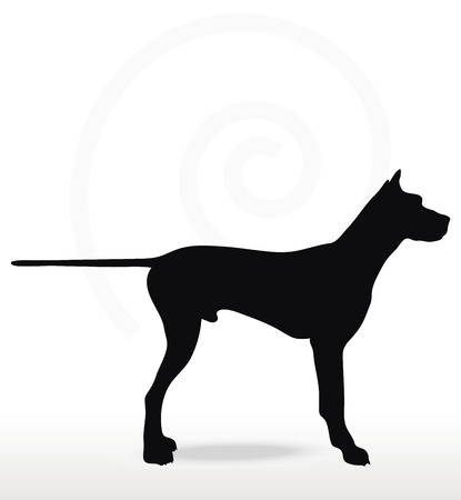 Vector Image - dog silhouette in still pose isolated on white background
