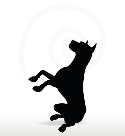 devanear: Imagem vetorial - silhueta do cão em beg pose isolado no fundo branco