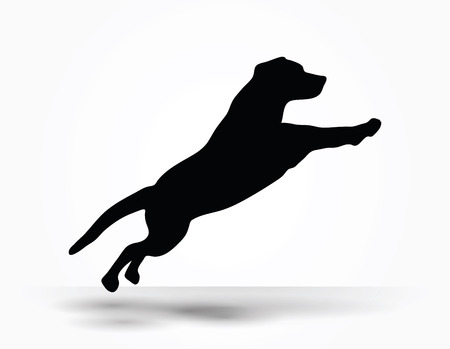 cur: Vector Image - dog silhouette in default pose isolated on white background