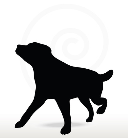 black bitch: Vector Image - dog silhouette isolated on white background