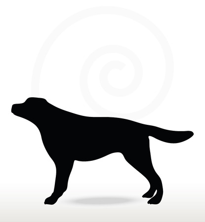 stray: Vector Image - dog silhouette isolated on white background