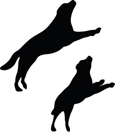 devanear: Vector Image - dog silhouette isolated on white background