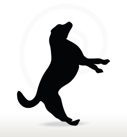cur: Vector Image - dog silhouette isolated on white background
