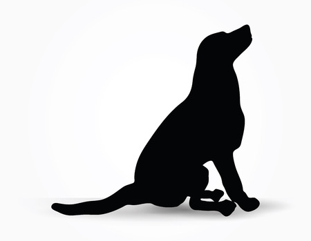 hound: Vector Image - dog silhouette in default pose isolated on white background