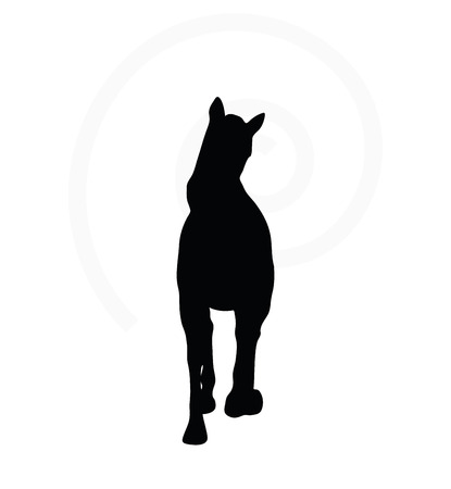 gee gee: Vector Image - horse silhouette in loping pose isolated on white background